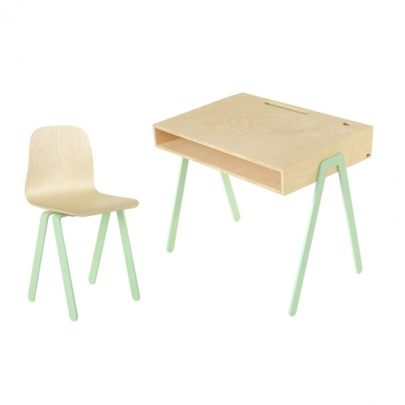 Bureau Enfant Large - IN2WOOD - Menthe