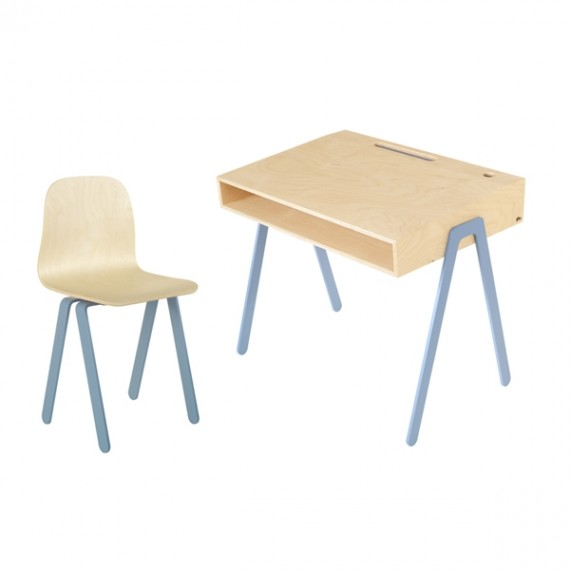 Bureau Enfant Large - IN2WOOD - Bleu
