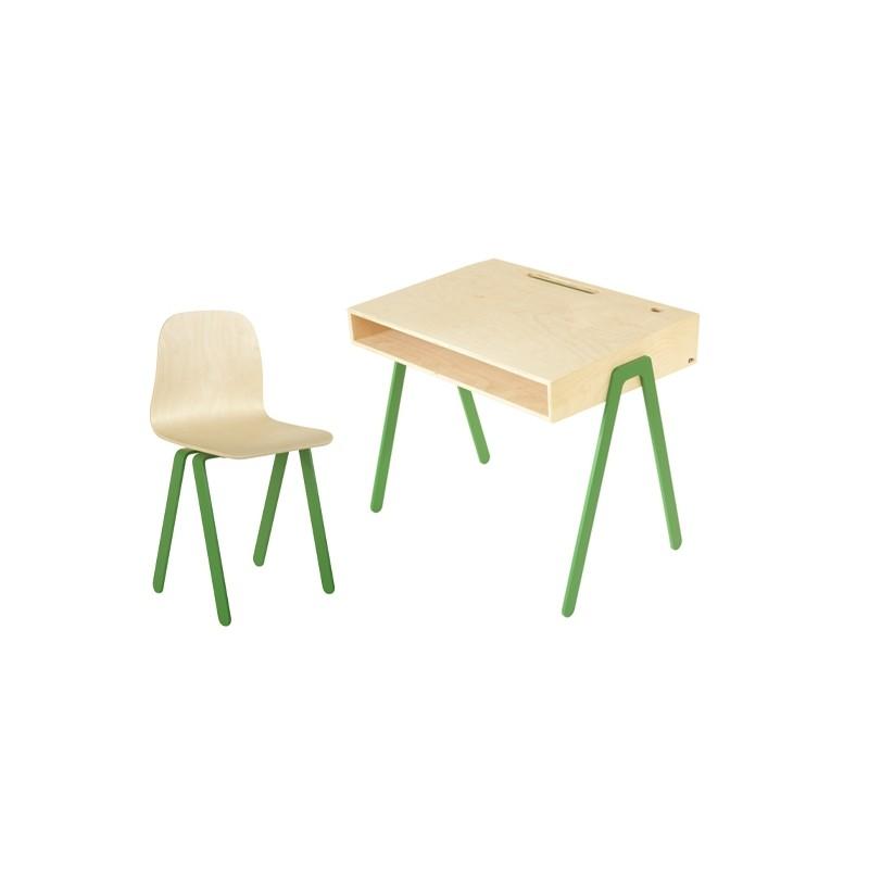 Bureau Enfant Large - IN2WOOD - Vert - Livraison offerte
