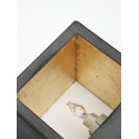 Applique Murale - B9 - Béton Noir - Or - Livraison offerte