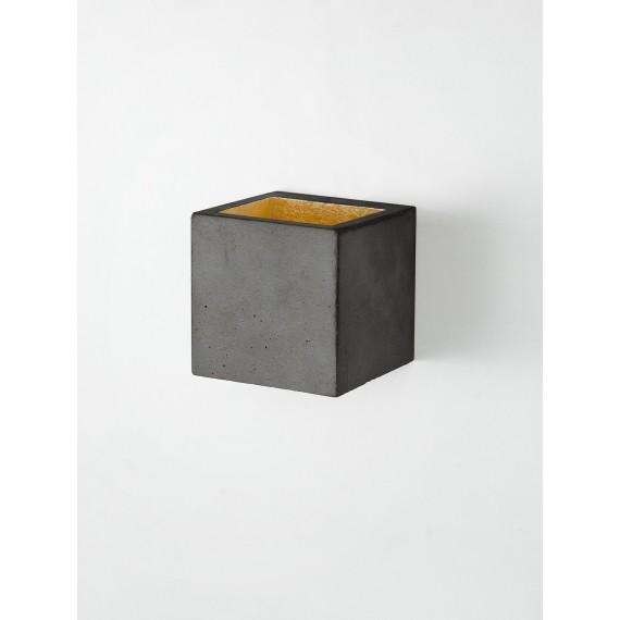 Applique Murale - B9 - Béton Noir - Or
