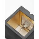 Applique Murale - B9 - Béton Noir - Argent - Livraison offerte