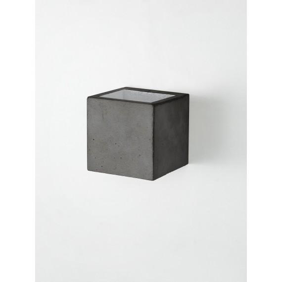 Applique Murale - B9 - Béton Noir - Argent