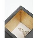 Applique Murale - B9 - Béton Noir - Cuivre - Livraison offerte