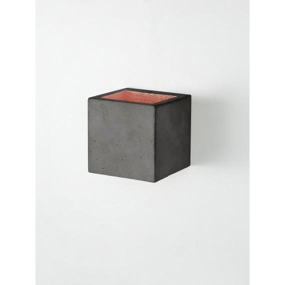 Applique Murale - B9 - Béton Noir - Cuivre
