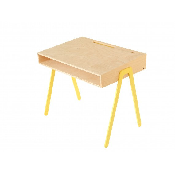 Bureau Enfant Large - IN2WOOD - Jaune