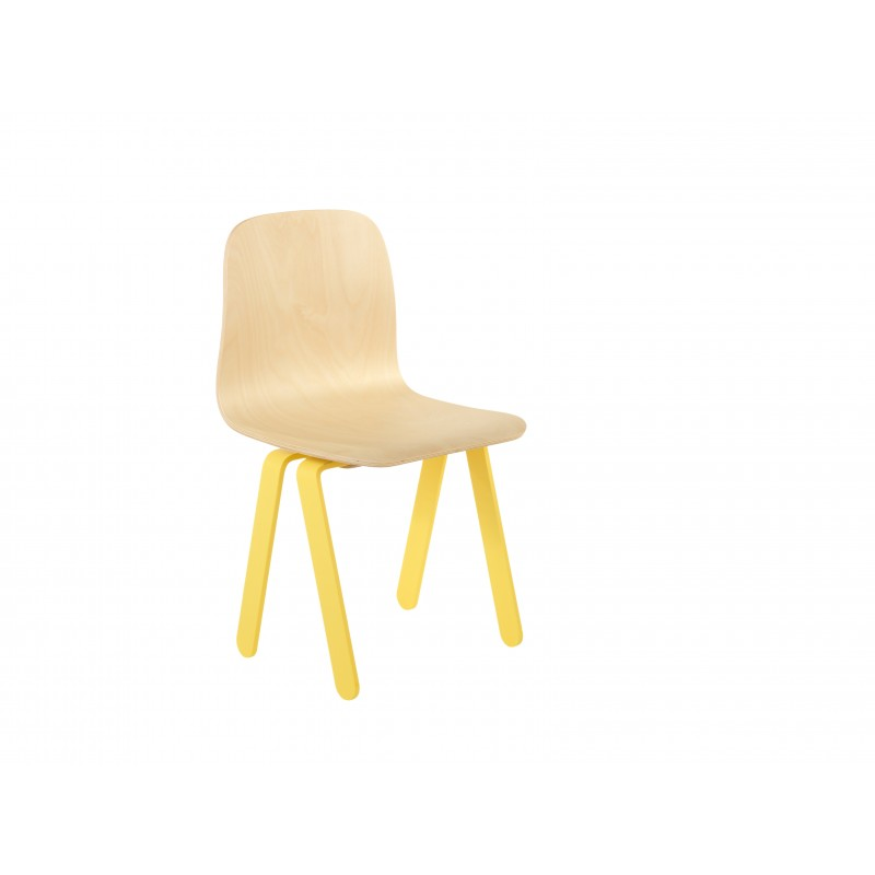 Chaise Enfant Small - IN2WOOD - Jaune - Livraison offerte