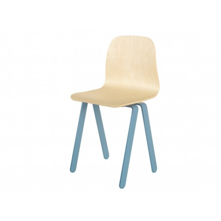 Chaise Enfant Large - IN2WOOD - Bleue