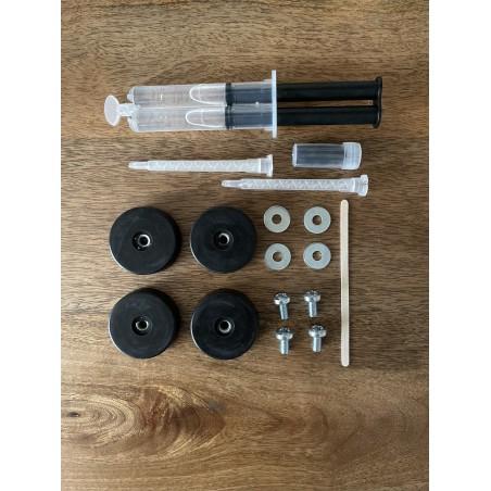 Kit de réparation Shockmounts pour chaises Eames en fibre